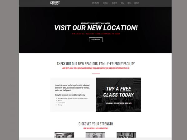 CrossFit Scranton - Landing Page