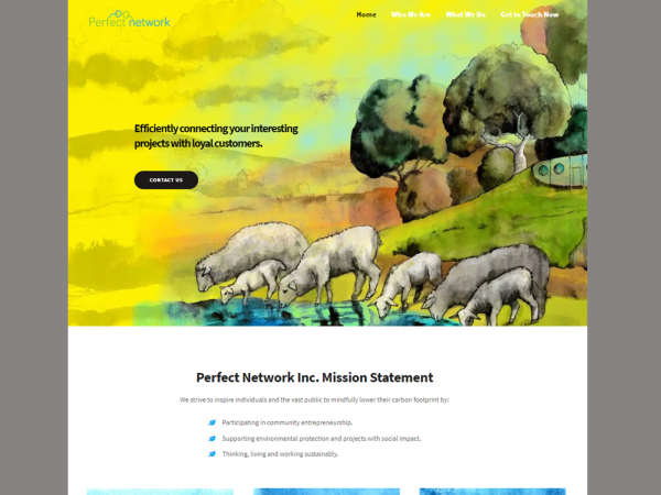 Perfect Network - Landing Page